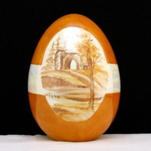 Uovo con paesaggio
