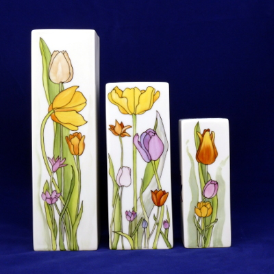 Serie vasi Manhattan tulipani