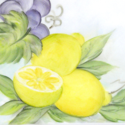 Frutta dipinta a mano